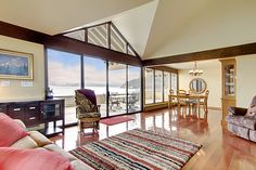 window walls overlooking entertainment deck and magnificent view