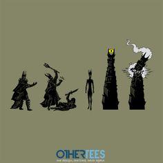 Dark Lord Evolution by ddjvigo Shirt on sale until 23 March on http://othertees.com #lordoftherings #hobbit