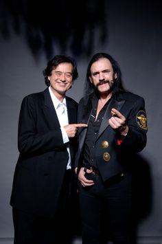 Jimmy Page & Lemmy Kilmister