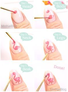 TUTORIAL for do a Flamingo Nail Art!! |DIY|