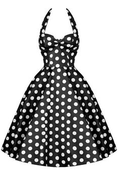 Vintage polka dot sun dress