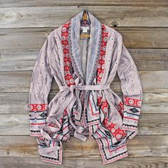 Birdsong Wrap Sweater in Dusy, Sweet Rugged Women's Clothing