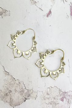 Helen & sienna -niki earrings-Bohemian inspired hoop earrings in many different modal made out of 24 gold pated brass and are perfect for the ultimate boho bride