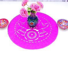 Round pink paper placemat, Paper doilies, 23 Inches, Fiesta table, Wedding Decor, Engagement party, Fiesta decoration, Buy One Get One Free by MexFabricSupplies on Etsy https://www.etsy.com/listing/240904214/round-pink-paper-placemat-paper-doilies