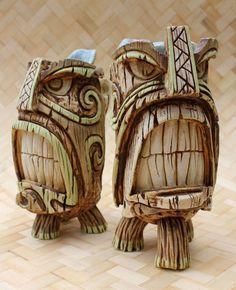 Vantiki's Tiki Oasis 2011 pieces — Tiki Central – Schnitzerei Art Surf, Tiki Totem, Tiki Tiki, Tiki Head, Tiki Statues, Tiki Decor, Tiki Lounge, Tiki Mask, Fire And Stone