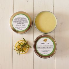 Combining zesty lemon and grounding rosemary, Focus body products are the perfect companion for work or study.