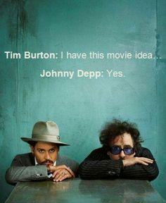 Johnny Depp & Tim Burton together they make magic happen