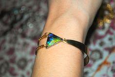 The Half Cuff 'n' Swarovski bracelet. $39.00, via Etsy.