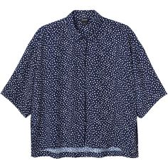 Monki Megan shirt (1,220 THB) ❤ liked on Polyvore featuring tops, blouses, shirts, crop tops, deeply dotty, polka dot blouse, button up blouse, button-down shirts, polka dot shirt and button down blouse