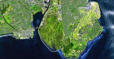 """Para comemorar o Dia da Terra, neste 22 de abril, a Agência Espacial Europeia (ESA) divulgou esta foto de Copenhague. Como o tema do Dia da Terra neste ano é cidades verdes, a agência usou a capital da Dinamarca porque ela foi escolhida a Capital Verde da Europa, com exemplos de investimentos em tecnologia sustentável, políticas públicas voltadas para este assunto, além de um público educado para isso. """"A cidade dinamarquesa é um bom modelo em termos de planejamento urbano e design, e está…"""