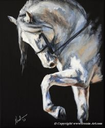 Equine Art: Nadina Ironia on Cavalcade, beautiful horse painting with awesome lighting. Pretty Horses, Beautiful Horses, Horse Artwork, Horse Drawings, Equine Art, Horse Pictures, Animal Paintings, Horse Paintings, Art Studies