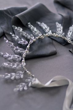 Winter's Frost Bridal Crown - 1920s bridal tiara, vintage inspired stone headpiece, Art Nouveau hair adornment by EstherJeanDesigns on Etsy https://www.etsy.com/listing/214003453/winters-frost-bridal-crown-1920s-bridal