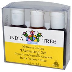 India Tree Natural Decorating Colors, 3 bottles(red,yellow,blue) India Tree http://www.amazon.com/dp/B000FNM5PU/ref=cm_sw_r_pi_dp_l7.4tb1VR8W9R