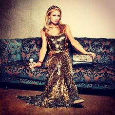 Love this beautiful gold gown by @ClaudioMansillaM & @ParisHiltonHandbags that I wore for my @CarasChile cover shoot.  #GoldenGirl