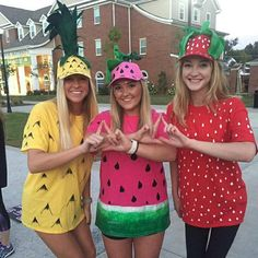 Sorority Big Little/ Twittle costumes for reveal day!                                                                                                                                                                                 More