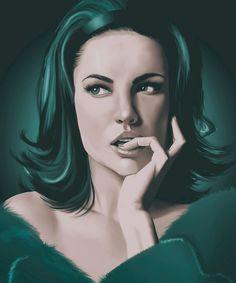 Nieuw in mijn Werk aan de Muur shop: Portret Schilderij