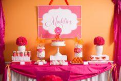 Love the orange/pink.   Pancake and Pajama Pink and Orange Printable by FrogPrincePaperie, 34.00