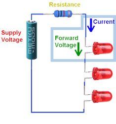 Current Limiting Resistor Calculator for Leds