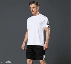Tracksuits Joggers Park Dri-Fit Men Sports Top & Bottom Set Top Fabric: Polyester Bottom Fabric: Polyester Top Type: T-Shirt Bottom Type: Shorts Sleeve Length: Short Sleeves Top Pattern: Solid Bottom Pattern: Solid Multipack: 2 Sizes:  S (Top Chest Size: 36 in Top Waist Size: 28 in Top Length Size: 27 in Shoulder Size: 16 in Bottom Waist Size: 28 in Bottom Hip Size: 32 in Bottom Length Size: 17 in)  XL (Top Chest Size: 42 in Top Waist Size: 34 in Top Length Size: 29 in Shoulder Size: 19 in Bottom Waist Size: 34 in Bottom Hip Size: 38 in Bottom Length Size: 18 in)  L (Top Chest Size: 40 in Top Waist Size: 32 in Top Length Size: 29 in Shoulder Size: 18 in Bottom Waist Size: 32 in Bottom Hip Size: 36 in Bottom Length Size: 18 in)  M (Top Chest Size: 38 in Top Waist Size: 30 in Top Length Size: 28 in Shoulder Size: 17 in Bottom Waist Size: 30 in Bottom Hip Size: 34 in Bottom Length Size: 17 in)  XXL (Top Chest Size: 44 in Top Waist Size: 36 in Top Length Size: 30 in Shoulder Size: 20 in Bottom Waist Size: 36 in Bottom Hip Size: 40 in Bottom Length Size: 19 in)  Country of Origin: India Sizes Available: S, M, L, XL, XXL   Catalog Rating: ★4.1 (237)  Catalog Name: Comfy Glamorous Top & Bottom Set CatalogID_2073819 C70-SC1402 Code: 083-11139970-258
