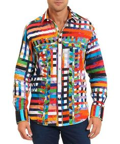 bc93d41f Robert Graham Valley of kings Medium-sized Shirt Medium Size Shirt, King  Shirt,