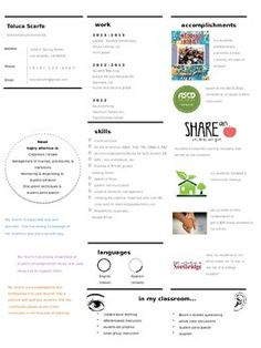 Here is my resume template that is designed in PowerPoint and editable for you to show off your awesomeness. The layout is creative, out-of-the-box, fun - just like your teaching!