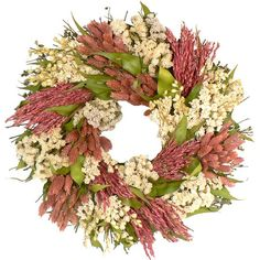 """I pinned this Pink Garden 16"""" Wreath from the Shelter Island Designs event at Joss and Main!"""