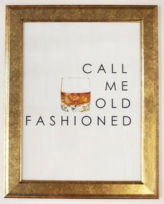 Call Me Old Fashioned print, $68.00 // Katie Kime