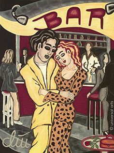 Jacqueline Ditt - Clubdancing (Tanzen im Club) - universal arts Galerie Studio - Grafik Druck Kunstdruck nach Gemälde universal arts Galerie Studio edition http://www.amazon.de/dp/B00M387L22/ref=cm_sw_r_pi_dp_zKT-vb0DN31YD