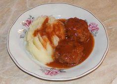 Chiftele cu sos Martha Stewart, Deserts, Chicken, Food, Essen, Postres, Meals, Dessert, Yemek
