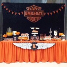 34 Ideas for motorcycle party ideas harley davidson baby shower Motorcycle Birthday Parties, Biker Birthday, 50th Birthday Party, Birthday Ideas, Birthday Decorations, Baby Shower Motorcycle, Motorcycle Baby, Baby Shower Parties, Baby Shower Themes