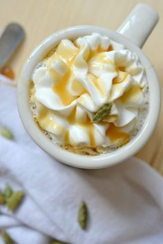 Cardamom Caramel Latte Recipe. Easy to make and a fanatastic addition to your fall coffee recipes!