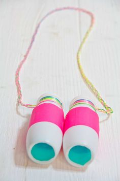 Recycled play binoculars ~ simple craft that leads to lots of pretend play