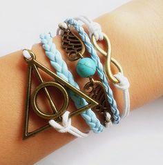 Deathly Hallow Bracelet / Harry Potter Bracelet / by Especially2U, $9.50