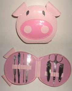 Lovely pig shape bag makeup tools...have it