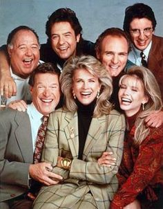 Murphy Brown. CBS Monday night domination! Murphy was an alcoholic single news anchor in DC. Loved the ensemble of cast. She was famous for having a child and not marrying the father. It made the Vice President's list of things of what is wrong with today's society. It only made the show more popular. Smart comedy. Loved Candice Bergman.