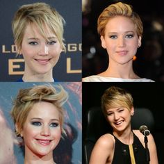 Four ways to style a pixie crop by Jennifer Lawrence - Telegraph Pixie Hairstyles, Short Hairstyles For Women, Cool Hairstyles, Pixie Haircuts, Hairdos, Hairstyle Ideas, Hair Ideas, Really Short Hair, Short Hair Cuts