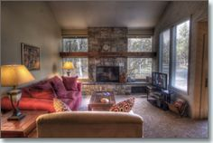 A cozy condominium located in the heart of Sunriver. Easy access to the Deschutes River, marina, stables, Sunriver Nature center, and to the Village Mall. Quelah condos have their own swimming pool so you can avoid the crowds! A wonderful garden-like setting in the back. 3 Quelah is just around the corner. The hot tub is a community hot tub located near the condo.