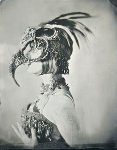 Vintage burlesque style Plague doctors mask