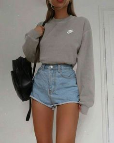 Trendy Summer Outfits, Cute Comfy Outfits, Simple Outfits, Stylish Outfits, Outfit Summer, Casual School Outfits, Sporty Outfits, Holiday Outfits, Spring Outfits