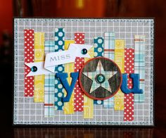"""Tonya Dirk - I love this as a way to use my """"banner"""" scraps"""
