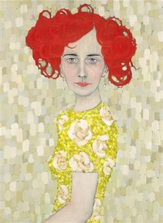 Ryan Pickart's portraits with their angularity and clash of patterns have many of the characteristics of Egon Schiele and Gustav Klimt.