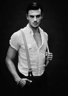 Never underestimate the power of a white button-up. Or suspenders.