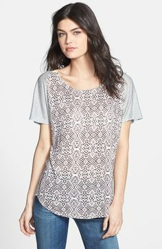 Ella Moss Print Front Tee available at #Nordstrom