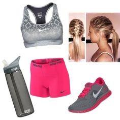 Keep it comfy and stylish! Cute Nike Outfits, Sport Outfits, Running Outfits, Nike Running, Workout Attire, Workout Wear, Workout Outfits, Workout Clothing, Sport Fashion