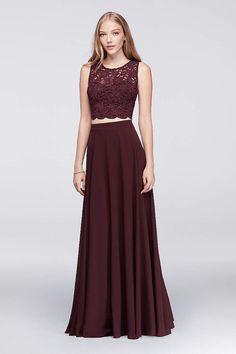 bcad2e962b5 Two-Piece Prom Dresses   2 Piece Crop Top Prom Dresses
