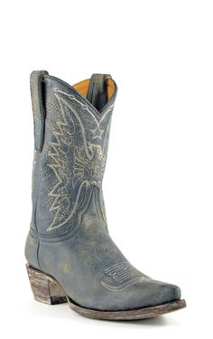 Women's Yippee Ki Yay by Old Gringo Sam Eagle Boots Blue Jean #YL044-2