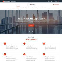 Law Firm. Reszponzív Weboldal Sablon