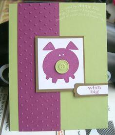 Purple Button Buddy pig
