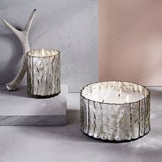 Crackle Mercury Scented Candles - Silver #westelm
