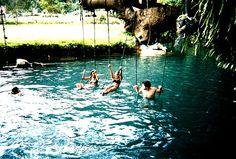swing in the water